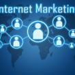 Internet marketing concept — Stock Photo