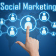 Pressing social marketing icon — Stock Photo