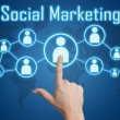 Pressing social marketing icon — Stock Photo #26459007
