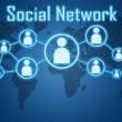 Social network concept — Stock Photo