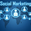concetto di marketing sociale — Foto Stock
