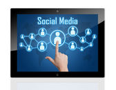 Tablet Social Media — Stock Photo