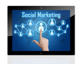 Tablet Social Marketing — Foto de Stock