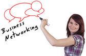 Koncepcja biznesowa sieć — Zdjęcie stockowe