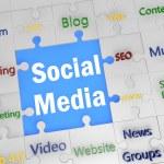 Puzzle Social Media — Stock Photo #27253379