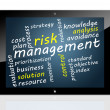 Tablet Risk Management — Stock Photo