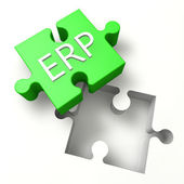 Puzzle ERP — Stock Photo