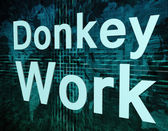 Donkey Work — Stock Photo