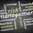 Blackboard risk management — Stock Photo