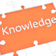 Puzzle knowledge concept — Stock Photo