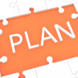 Puzzle plan concept — Stock Photo