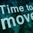 Stock Photo: Time to move