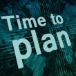 Time to plan — Foto Stock