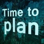 Time to plan — Stock Photo