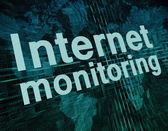 Monitoramento de Internet — Fotografia Stock