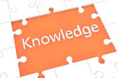 Koncept znalostní hádanka — Stock fotografie