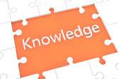 Puzzle knowledge concept — Stockfoto
