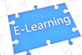 Puzzle E-Learning concept — Stock Photo