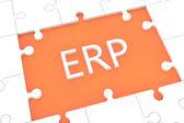 Puzzle ERP concept — Stock Photo