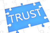 Puzzle trust concept — Stock Photo