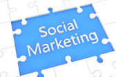Puzzle social marketing concept — Stock Photo