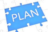 Puzzle-plan-konzept — Stockfoto