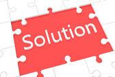Puzzle solution concept — Stock Photo