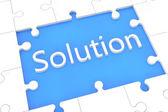 Conceito de solução de quebra-cabeça — Foto Stock