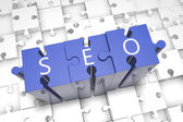 SEO Puzzle — Stock Photo