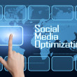 social media optimization — Stock Photo