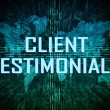 Stock Photo: Client Testimonials