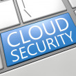 Stock Photo: Cloud Security