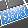 Stock Photo: Cloud Service