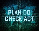 Plano de fazer check-act — Fotografia Stock