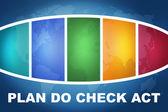 Plan Do Check Act — Stock Photo