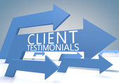 Client Testimonials — Stock Photo