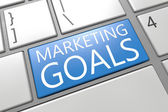 Marketing Goals — Stok fotoğraf
