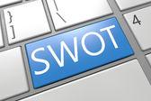 концепция swot — Стоковое фото