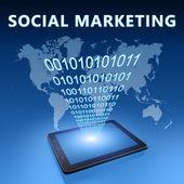 Sociale marketing — Stockfoto
