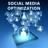 Social media optimalisatie — Stockfoto