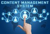 Sistema de gerenciamento de conteúdo — Foto Stock