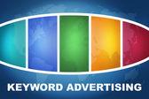 Palavra-chave publicidade — Foto Stock