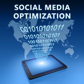 Otimização de mídia social — Foto Stock