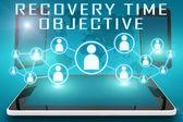 Herstel tijd doelstelling — Stockfoto