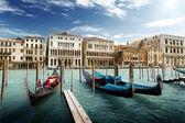 Gôndolas em veneza, itália. — Foto Stock