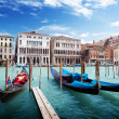 Photo: Gondolas in Venice, Italy.