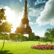 Eiffel tower in Paris, France - Foto Stock