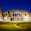 The Colosseum at night, Rome, Italy - Foto Stock