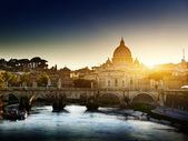 View on Tiber and St Peter Basilica — Photo