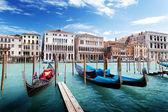 Góndolas en venecia, italia. — Foto de Stock